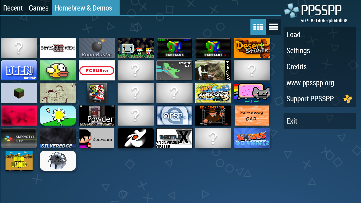 PPSSPP - PSP emulator- screenshot