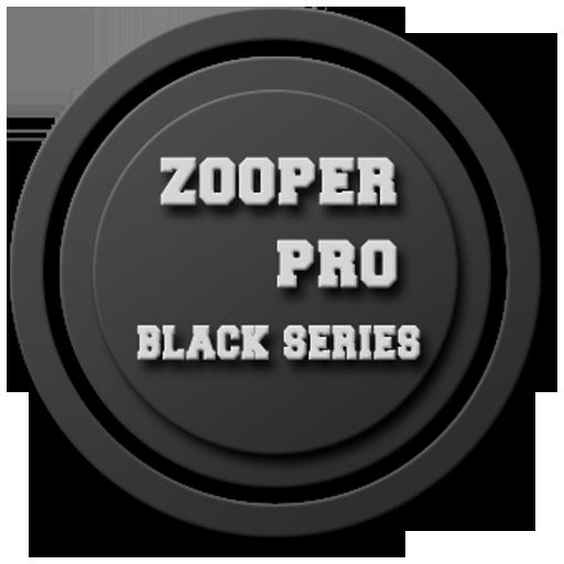 Zooper Black Series Clock LOGO-APP點子