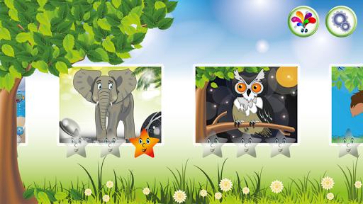 Cartoon animal puzzle