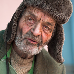 90+ by Hurghis Vasile - People Portraits of Men ( expression, different, resignation, reflection, colors, romania, old man, portrait, man, eyes, peasant )