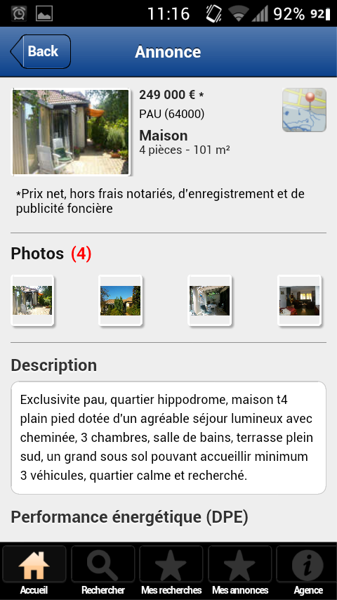 Agence immobili re laforet pau android apps on google play for Agence laforet