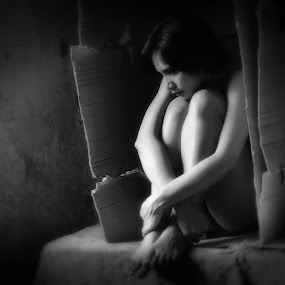 *Alone* by Re Rahnavarda - People Portraits of Women