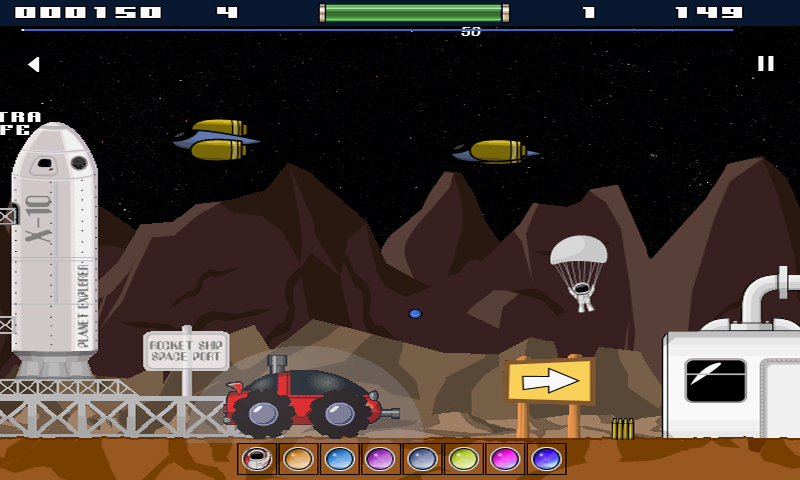 Space Rover Free- screenshot