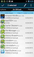 Screenshot of App2SD + (move app to SD)