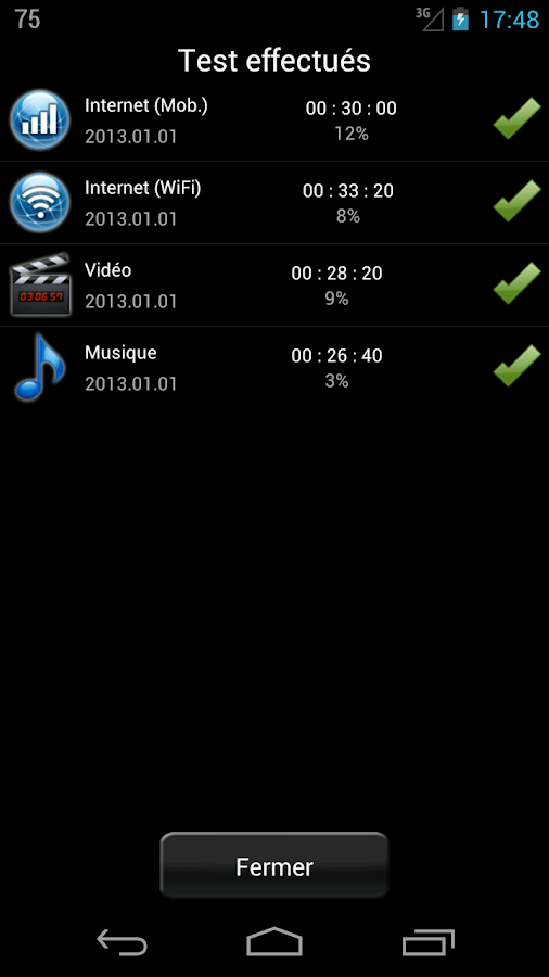 batterie HD notification android