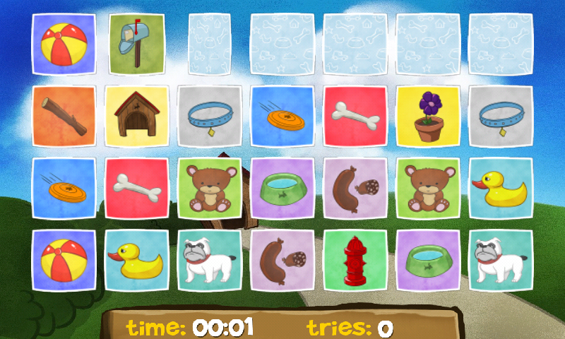 A Dog's Memory for Kids Free- screenshot