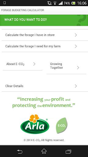 Arla Forage Budgeting App