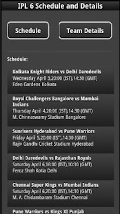 IPL6 Schedule- screenshot thumbnail