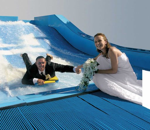 There's nothing more romantic than exchanging vows at Freedom of the Seas'  wedding chapel, unless of course it's on the FlowRider surf simulator.