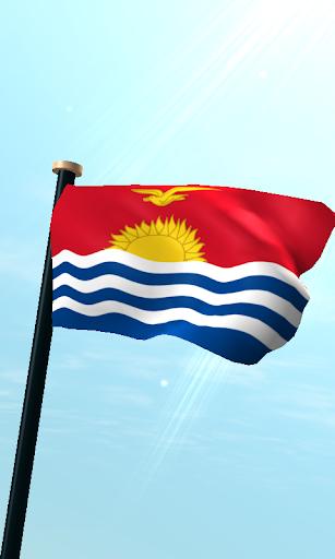 基里巴斯旗3D免費動態桌布
