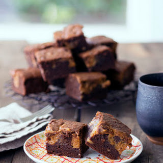 Chocolate Banana Brownies with Dulce De Leche