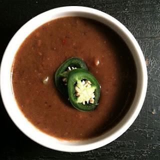 Low Calorie Black Bean Soup.