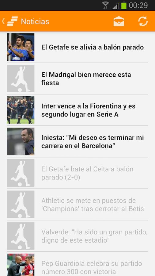 Resultados del fútbol - screenshot