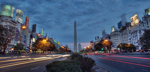 A view of the Plaza de la República and the Obelisk of Buenos Aires, a national historic monument and icon of Argentina's capital.