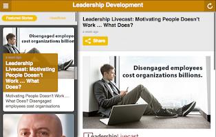 Screenshot of Leadership Development