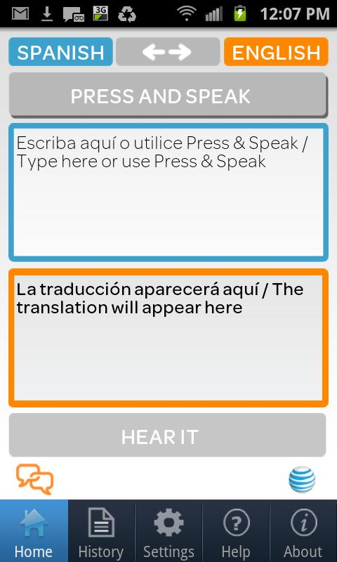 AT&T Translator - screenshot