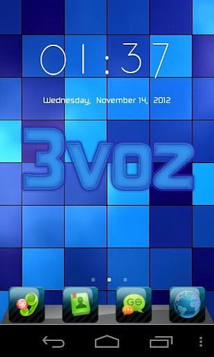 3voz GO Launcher Theme - Blue