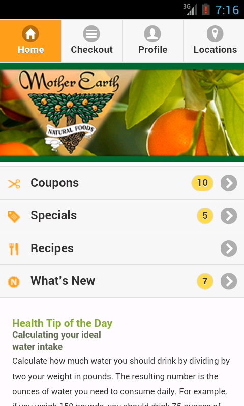 Mother Earth Natural Foods- screenshot