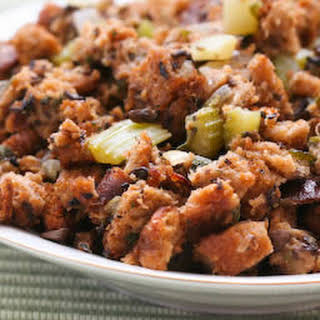 South Beach Diet Friendly Whole Wheat and Mushroom Stuffing with Sage and Thyme.