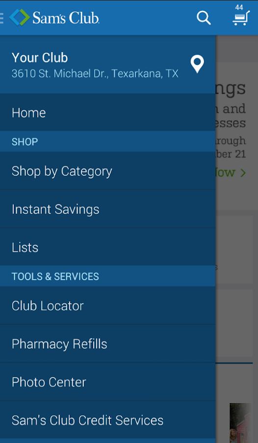 Sam's Club - screenshot