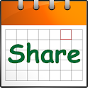 Calendar share-Schedule share icon