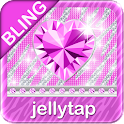 Purple ♦BLING♦ Theme Zebra SMS icon