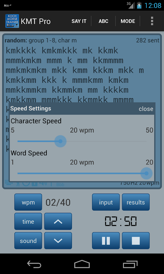 Koch Morse Trainer Pro - screenshot
