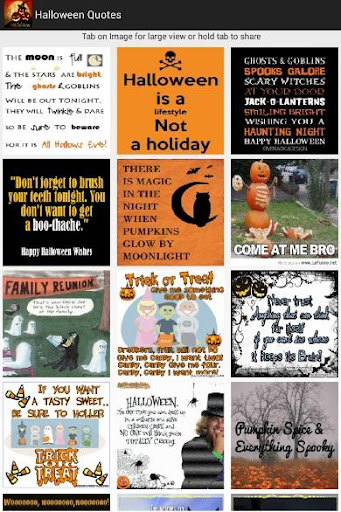 Halloween Quotes Sticker Card