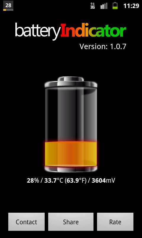 Battery Indicator Percentage- screenshot