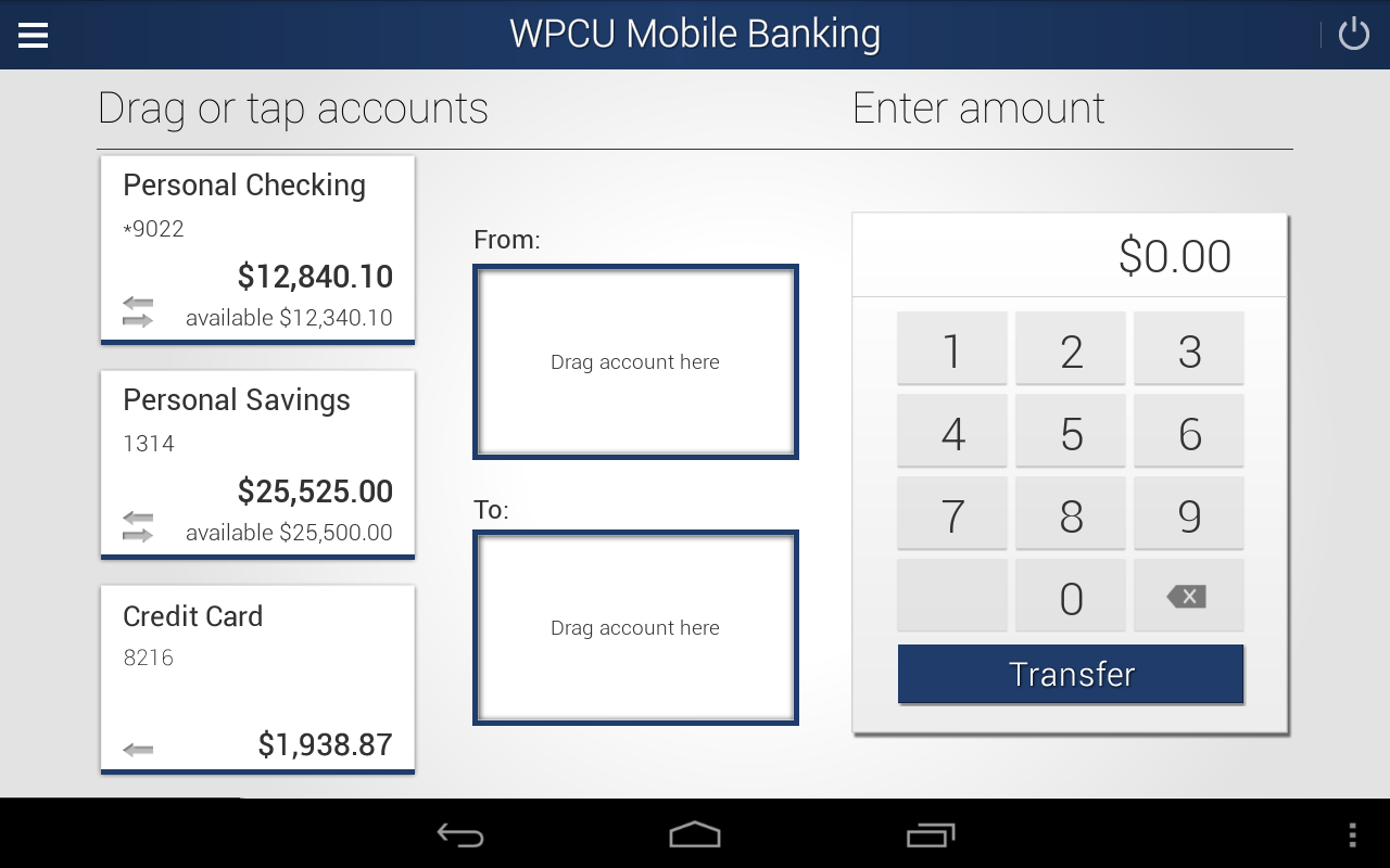 WPCU Mobile Banking - screenshot