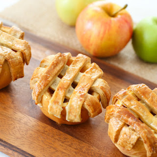 Apple Pies Baked in Apples