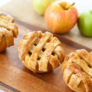 Apple Pies Baked in Apples.