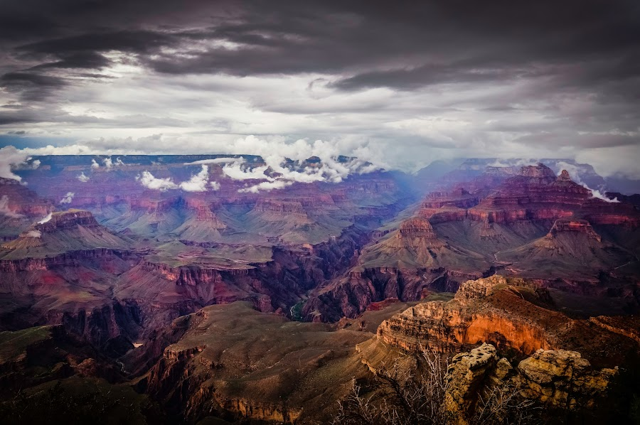Stormy Grand Canyon by Rohit Surya - Landscapes Mountains & Hills ( nature, grandcanyon, arizona, storm, landscape )
