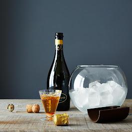 Handblown Glass Ice Bucket