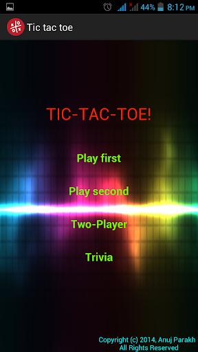 Paperless Tic Tac Toe
