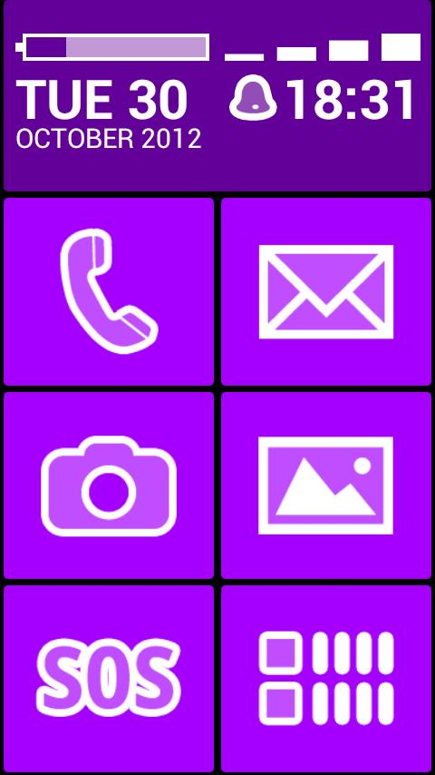 BL Violet Theme- screenshot