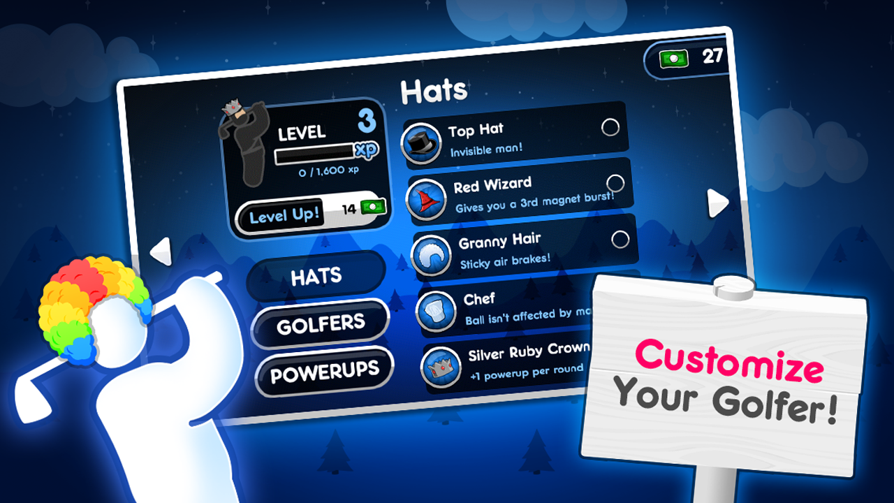 Screenshots of Super Stickman Golf 2 for iPhone