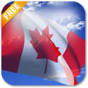 3D Canada Flag Live Wallpaper icon