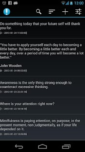 Notifications of Mindfulness - screenshot thumbnail