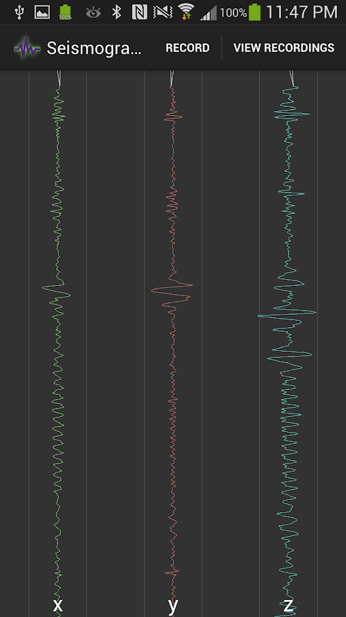 Seismograph - screenshot