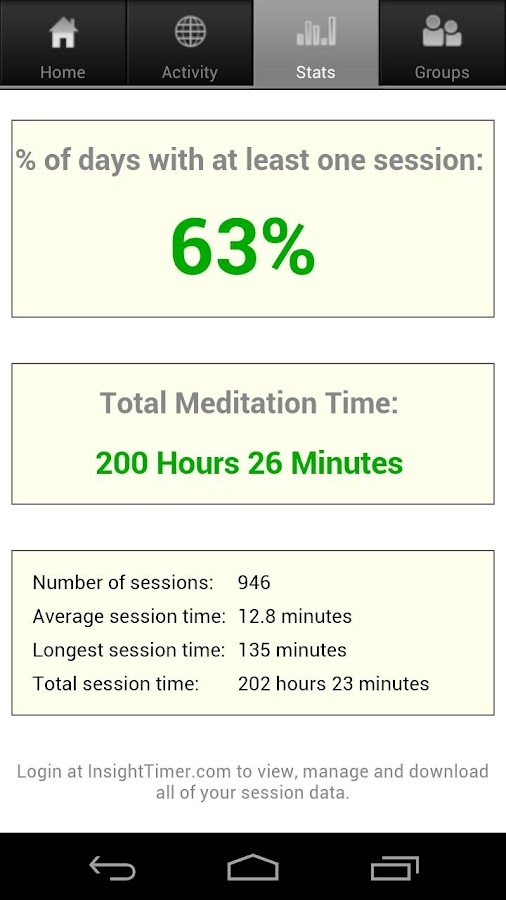 Insight Timer Meditation Timer - screenshot
