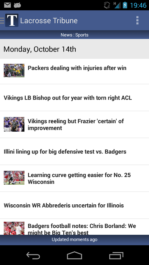 Lacrosse Tribune- screenshot
