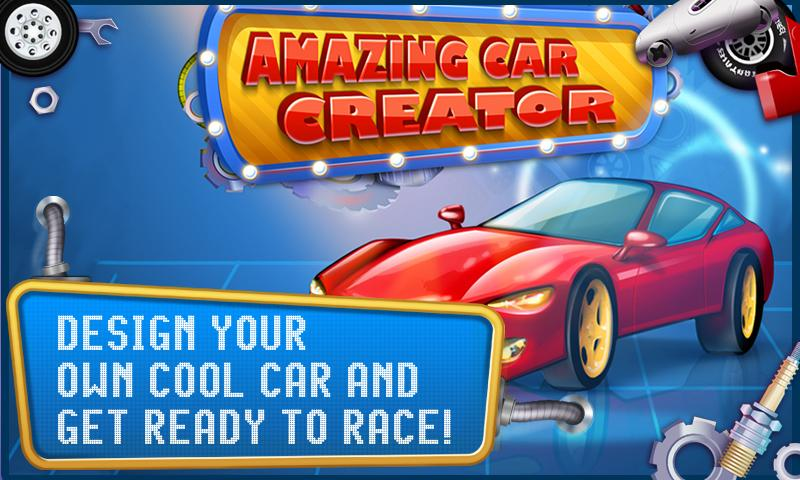 amazing car creator kids game screenshot