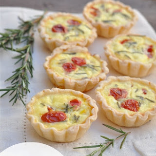 Ricotta Rosemary and Tomato Mini Quiche