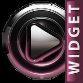 Poweramp skin widget Rose Glow