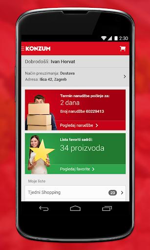 Konzum Mobile Application