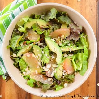 Avocado Grapefruit Salad With Grapefruit Vinaigrette