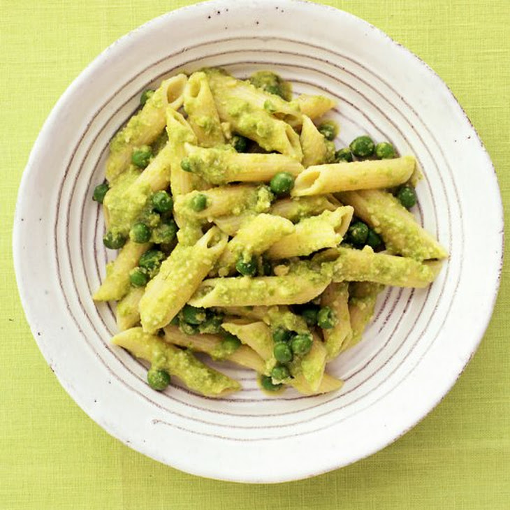 Pasta with Almond-Pea Pesto Recipe