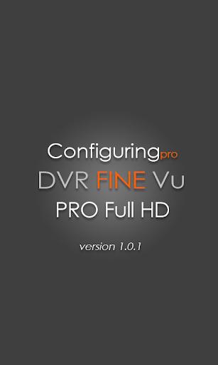 FineVu PRO Full-HD configuring