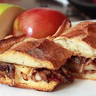 Gouda, Bacon, Pear with Balsamic Onions Sandwich.